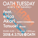 OATH TUESDAY -every 1st tuesday-